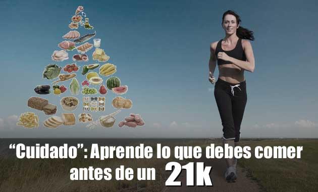alimentacion para antes de una media maraton